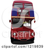 Clipart Of A Double Decker Bus Royalty Free Vector Illustration
