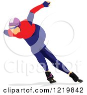 Clipart Of A Speed Skater 2 Royalty Free Vector Illustration by leonid