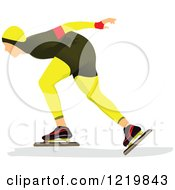 Clipart Of A Speed Skater 3 Royalty Free Vector Illustration by leonid