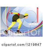 Clipart Of A Speed Skater With Text 3 Royalty Free Vector Illustration by leonid