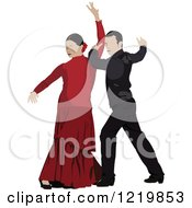Clipart Of Flamenco Dancers Royalty Free Vector Illustration by leonid