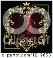 Clipart Of Flamenco Dancers In A Frame With Text Royalty Free Vector Illustration by leonid