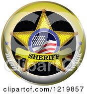 Clipart Of A Sheriff Badge Royalty Free Vector Illustration