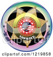 Clipart Of A Sheriff Badge 2 Royalty Free Vector Illustration