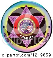 Clipart Of A Sheriff Badge 5 Royalty Free Vector Illustration