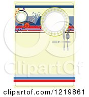 Clipart Of A French Restaurant Menu Cover Royalty Free Vector Illustration