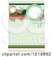 Clipart Of An Italian Restaurant Menu Cover Royalty Free Vector Illustration