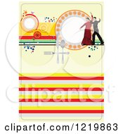 Clipart Of A Spanish Restaurant Menu Cover Royalty Free Vector Illustration
