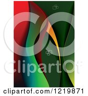 Clipart Of A Background Of Abstract Waves 2 Royalty Free Vector Illustration