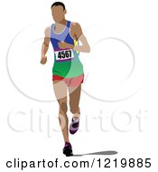 Clipart Of A Runner Royalty Free Vector Illustration by leonid