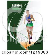 Clipart Of A Runner With Text Royalty Free Vector Illustration by leonid