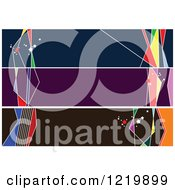 Clipart Of Abstract Colorful Website Banners Royalty Free Vector Illustration by leonid