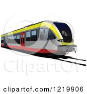 Clipart Of A Train Royalty Free Vector Illustration