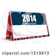 Clipart Of A 2014 Desk Calendar Royalty Free Vector Illustration