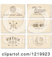 Clipart Of Vintage Business Card Designs With Sample Text Royalty Free Vector Illustration by BestVector