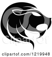 Clipart Of A Black And White Astrology Leo Lion Zodiac Star Sign Royalty Free Vector Illustration by cidepix