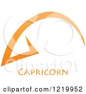 Clipart Of An Orange Astrology Capricorn Sea Goat Zodiac Star Sign Royalty Free Vector Illustration