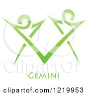 Green Astrology Gemini Twins Zodiac Star Sign