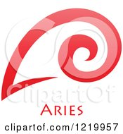 Clipart Of A Red Astrology Aries Ram Zodiac Star Sign Royalty Free Vector Illustration