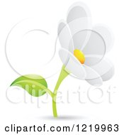 Clipart Of A White Daisy Flower Royalty Free Vector Illustration by cidepix