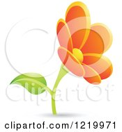 Clipart Of An Orange Daisy Flower Royalty Free Vector Illustration by cidepix