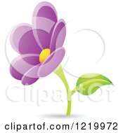 Clipart Of A Purple Daisy Flower Royalty Free Vector Illustration by cidepix