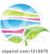 Clipart Of A Green Leaf Spring Icon Royalty Free Vector Illustration by cidepix