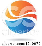 Clipart Of A Blue And Orange Sphere Royalty Free Vector Illustration
