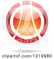 Clipart Of A Red And Orange Sphere Royalty Free Vector Illustration