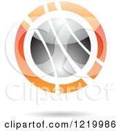 Clipart Of A Black And Orange Sphere 8 Royalty Free Vector Illustration by cidepix