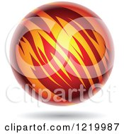 Clipart Of A Fiery Planet 2 Royalty Free Vector Illustration