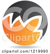 Clipart Of A Black And Orange Sphere 5 Royalty Free Vector Illustration