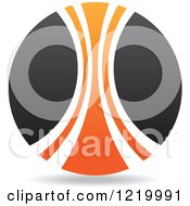 Clipart Of A Black And Orange Sphere 2 Royalty Free Vector Illustration