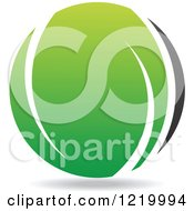 Clipart Of A Green And Black Sphere 3 Royalty Free Vector Illustration