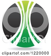 Clipart Of A Green And Black Sphere Royalty Free Vector Illustration by cidepix