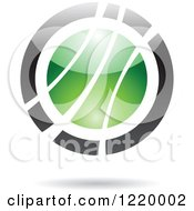 Clipart Of A Green And Black Sphere 6 Royalty Free Vector Illustration by cidepix