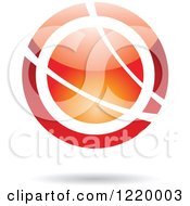 Clipart Of A Red And Orange Sphere 3 Royalty Free Vector Illustration