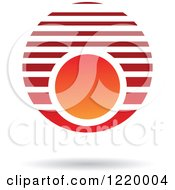 Clipart Of A Red And Orange Sphere 2 Royalty Free Vector Illustration