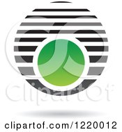 Clipart Of A Green And Black Sphere 5 Royalty Free Vector Illustration