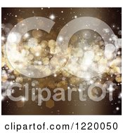 Clipart Of A Brown Sparkly Bokeh Christmas Background Royalty Free Illustration