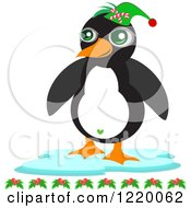 Christmas Penguin Wearing An Elf Hat