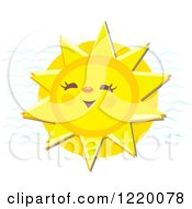 Clipart Of A Cheerful Laughing Sun Royalty Free Vector Illustration by bpearth
