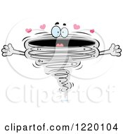 Clipart Of A Loving Tornado Mascot Royalty Free Vector Illustration