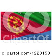 Clipart Of A 3d Waving Flag Of Eritrea With Rippled Fabric Royalty Free Illustration