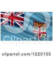 Clipart Of A 3d Waving Flag Of Fiji With Rippled Fabric Royalty Free Illustration