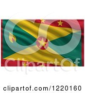 Clipart Of A 3d Waving Flag Of Grenada With Rippled Fabric Royalty Free Illustration