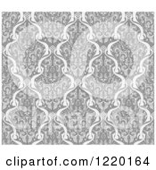 Clipart Of A Grayscale Seamless Middle Eastern Pattern 2 Royalty Free Vector Illustration
