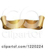 Clipart Of A Vintage Golden Banner Scroll 3 Royalty Free Vector Illustration