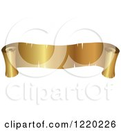 Clipart Of A Vintage Golden Banner Scroll Royalty Free Vector Illustration