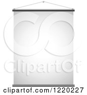 Clipart Of A Suspended Canvas Sign 3 Royalty Free Vector Illustration by cidepix